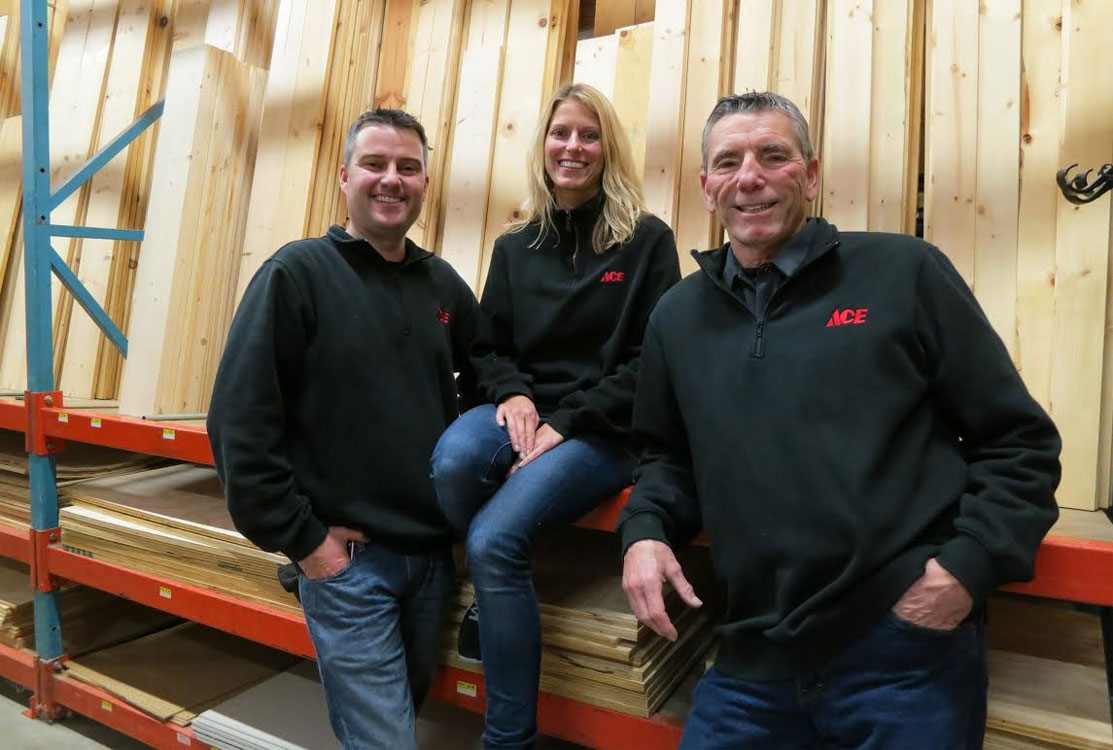 Nicole and Rob Yovino are store managers at Mission Ace Hardware & Lumber in Santa Rosa, CA