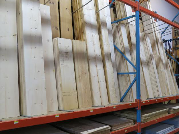 Pine boards and plywood panels available at Mission Ace Hardware & Lumber in Santa Rosa, CA.